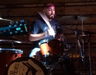 Ace Bandits member Bruce on the drums