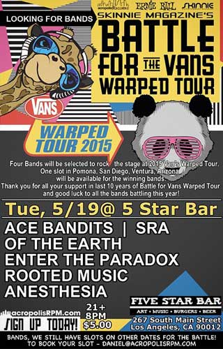 Poster - Ace Bandits competing at the battle for the Vans Warped Tour 2015